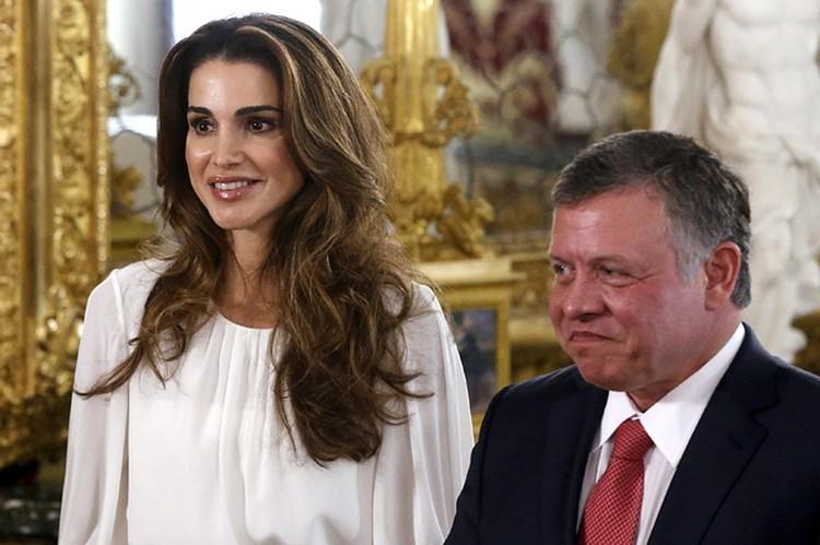 Королева Рания с мужем Абдаллой II