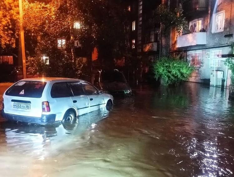 Проливной дождь затопил Иркутск 15-16 июля Фото: соцсети