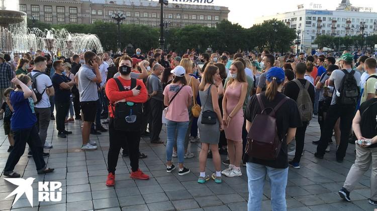 Хабаровск снова вышел на улицы.