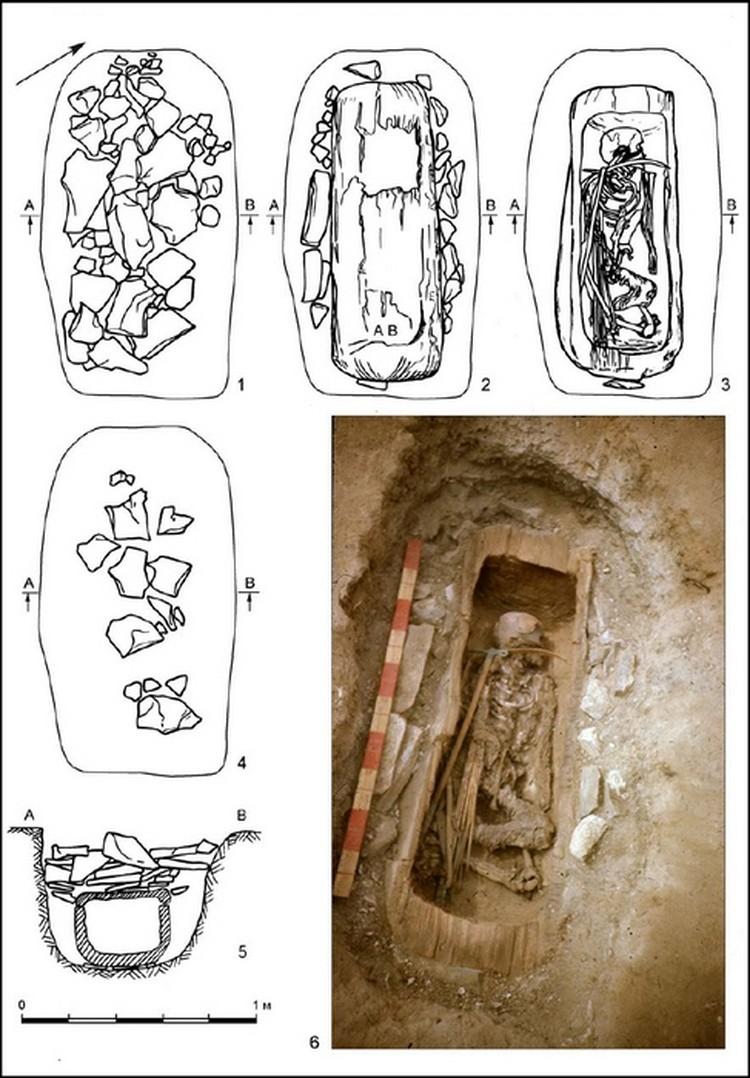 Когда в 1988 году археологи вскрыли колоду, они обнаружили хорошо сохранившиеся мумифицированные останки. Фото: пресс-служба Московского физико-технического университета