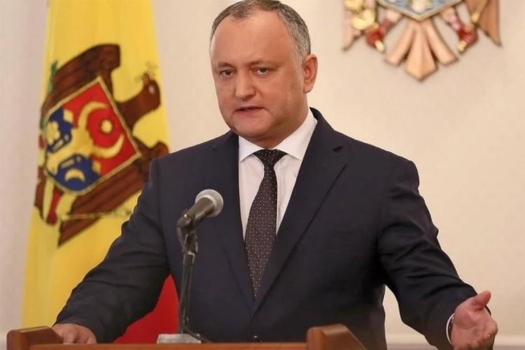 Президент Молдовы Игорь Додон. Фото: пресс-служба