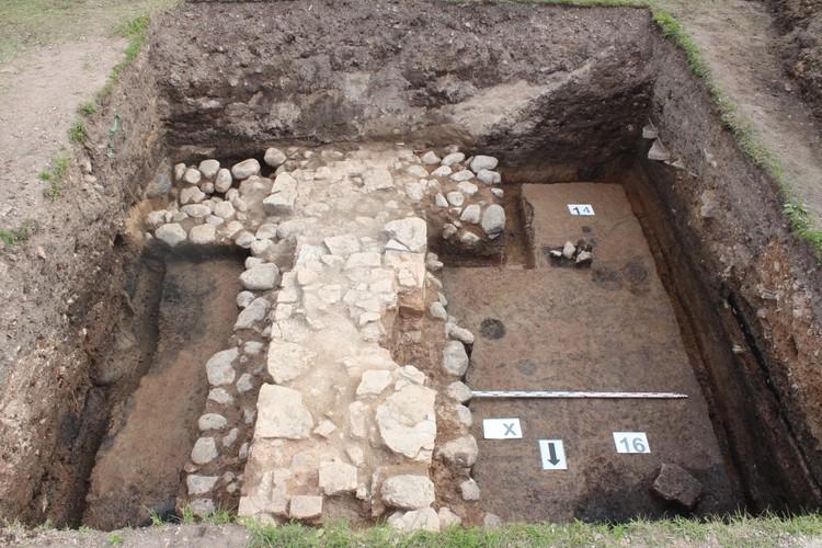 Фундамент древней церкви находится в хорошем состоянии. Фото: пресс-служба ИА РАН