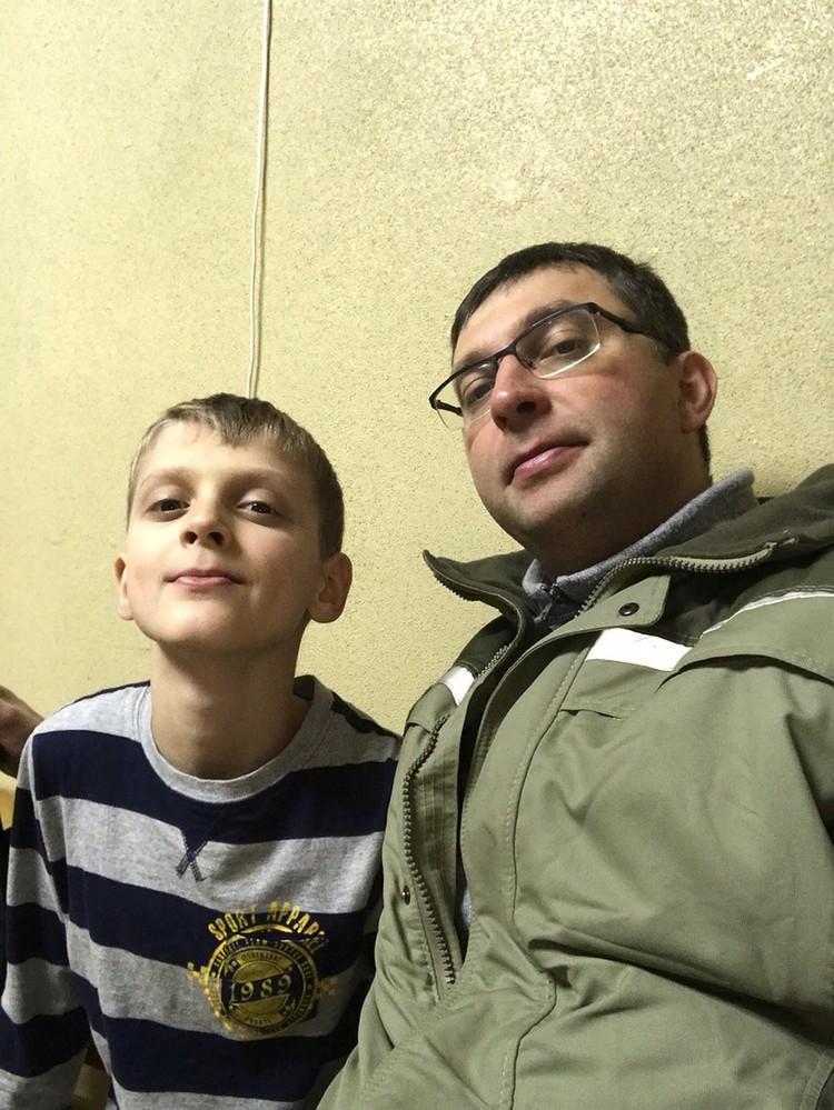 Леша с папой Фото: соцсети