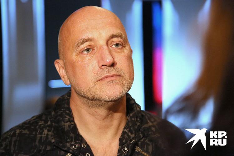 Писатель Захар Прилепин.