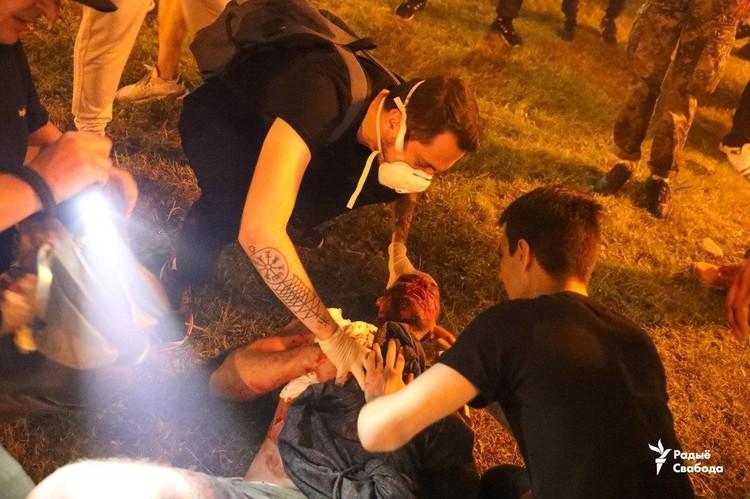 Сообщается о пострадавших. Фото: Радыё Свабода
