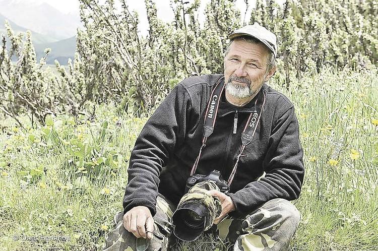 Фотограф-натуралист Олег Першин. Фото: Олег Белялов.