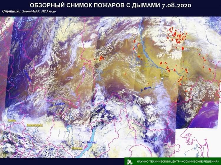 Снимки из космоса НТЦ «Космические решения»
