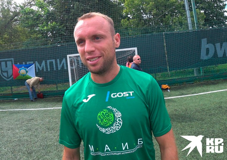 Вместе с ветеранами сыграл действующий футболист Денис Глушаков
