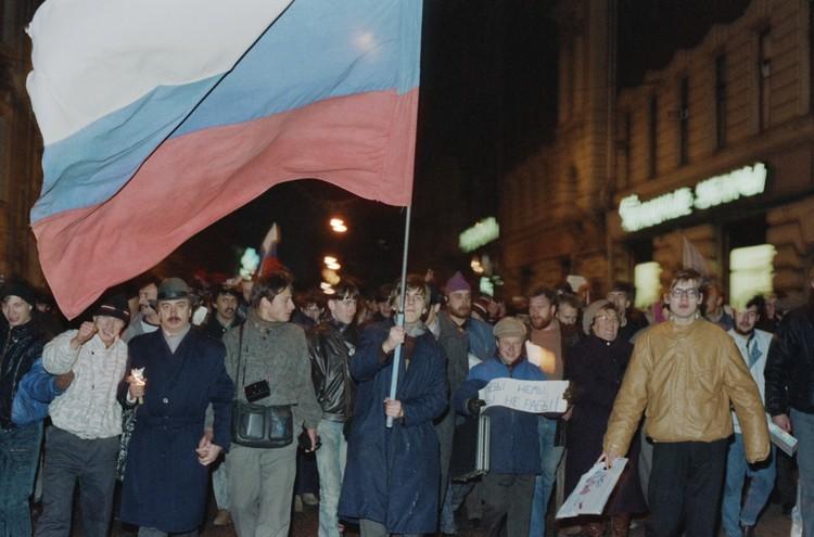 3 ноября 1989 г. Митинг Демократического союза в центре Москвы.Фото: Соловьев Андрей/Фотохроника ТАСС