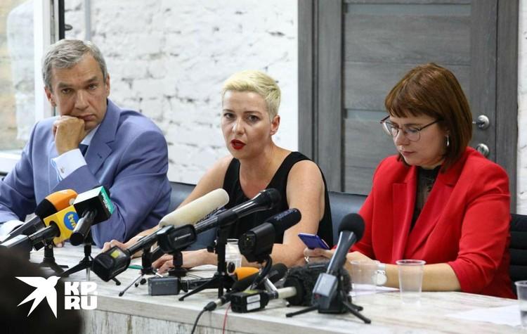Прошла первая пресс-конференция Координационного совета, который придумал и создает штаб Тихановской