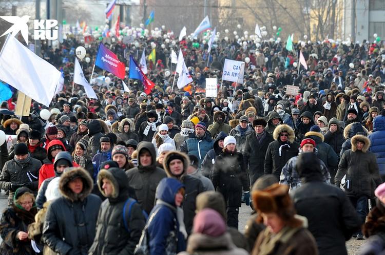 Декабрь 2011 в Москве кипел. Оппозиция собирала по 100 тысяч человек