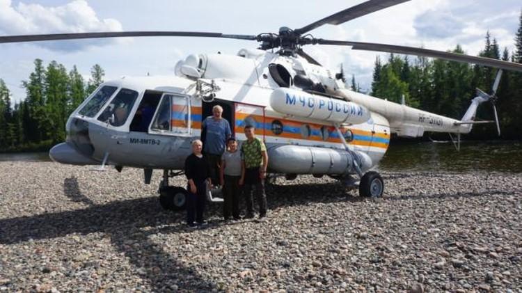 Спасенные очень переживали, пока в тайге ждали вертолета Фото: ГУ МЧС по Туве