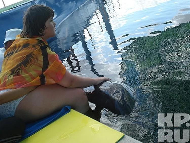 ОБрести зрения Яне помогли дельфины.