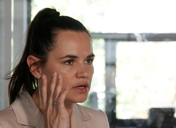 Светлана Тихановская во время интервью в Минске, июль 2020 г.