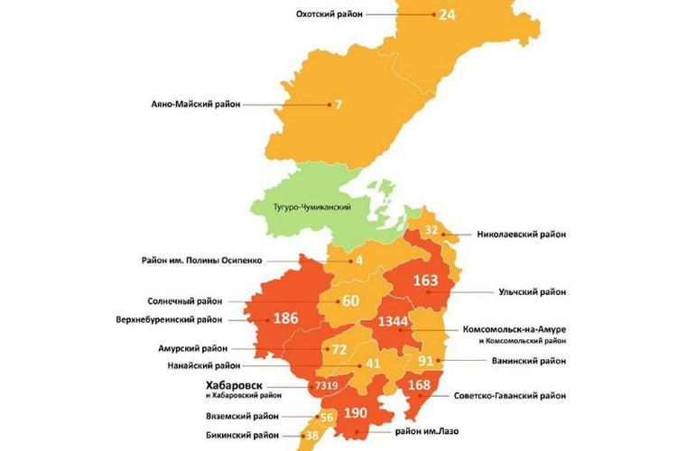 Заболеваемость коронавирусом в регионе ФОТО: региональный минздрав