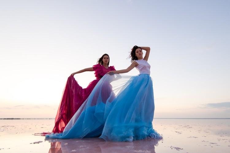 Соляные бассейны отлично вписались в проект Crimean Fashion Week
