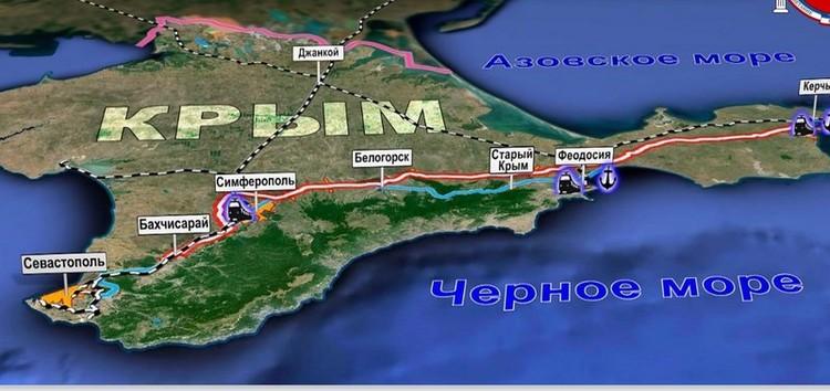 Федеральная трасса проходит через весь полуостров. Фото: Министерство транспорта Крыма.