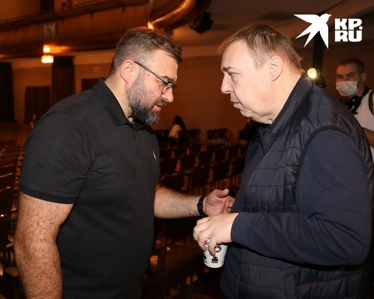 Актеры Михаил Пореченков и Александр Семчев.