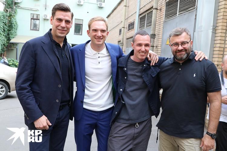 Актеры Дмитрий Дюжев, Андрей Бурковский, Игорь Верник и Михаил Пореченков.