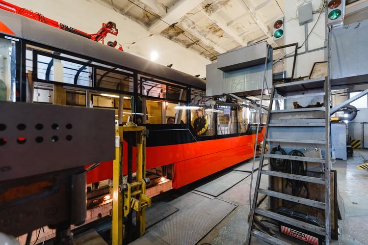 Мы видели трамвай в процессе модернизации