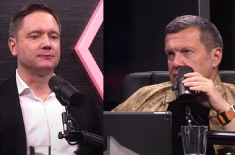 Капчук рассказал Владимиру Соловьеву шпионскую историю. Фото: скрин с эфира