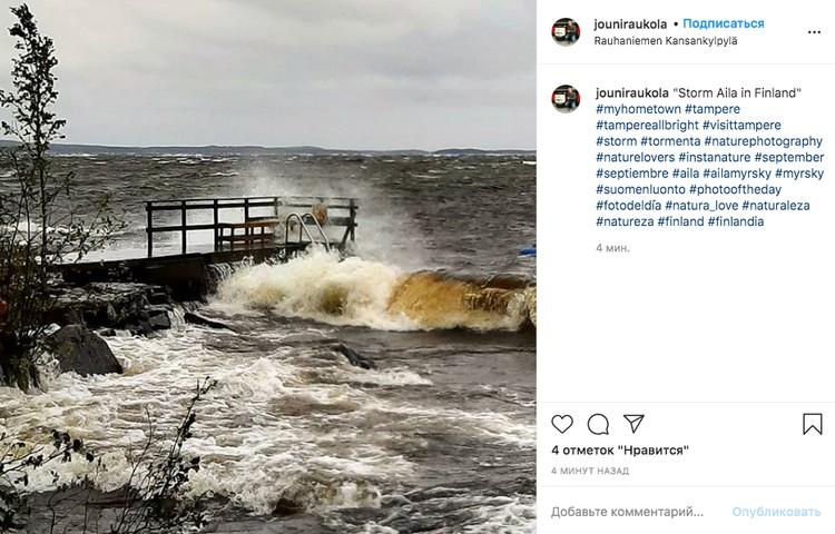 Пользователи соцсетей делятся фотографиями шторма