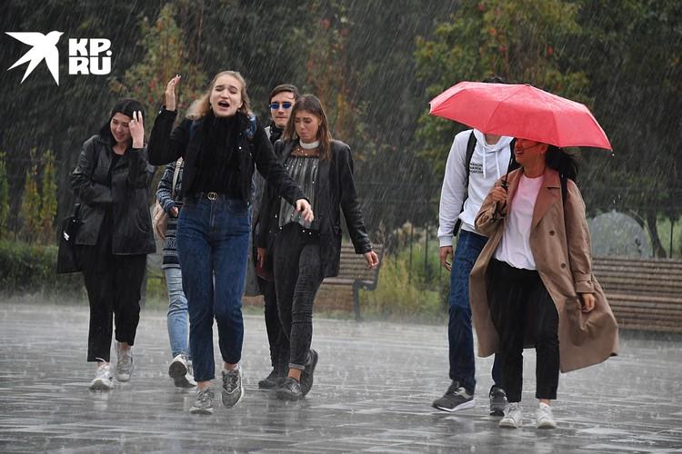 В столицу пришли первые мощные осенние дожди