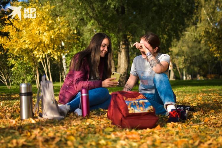 Что может быть лучше пикника на таком ярком ковре из желтых листьев?