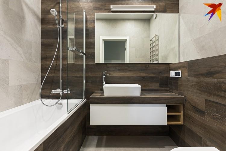 Ванная комната получилась просторной. Фото: Егор ПЯСКОВСКИЙ.
