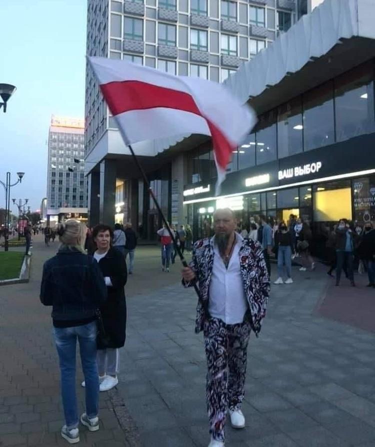 Дмитрий Попов в центре Минска. Фото: личный архив