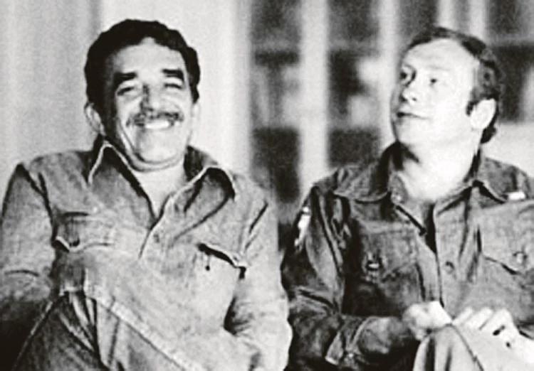 Геннадий Бочаров (справа) с Габриэлем Гарсиа Маркесом. Фото: Личный архив Геннадия Бочарова