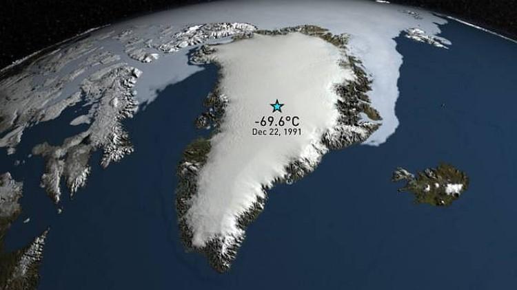 Нынешний полюс холода Северного полушария. Фото: theweathernetwork.com