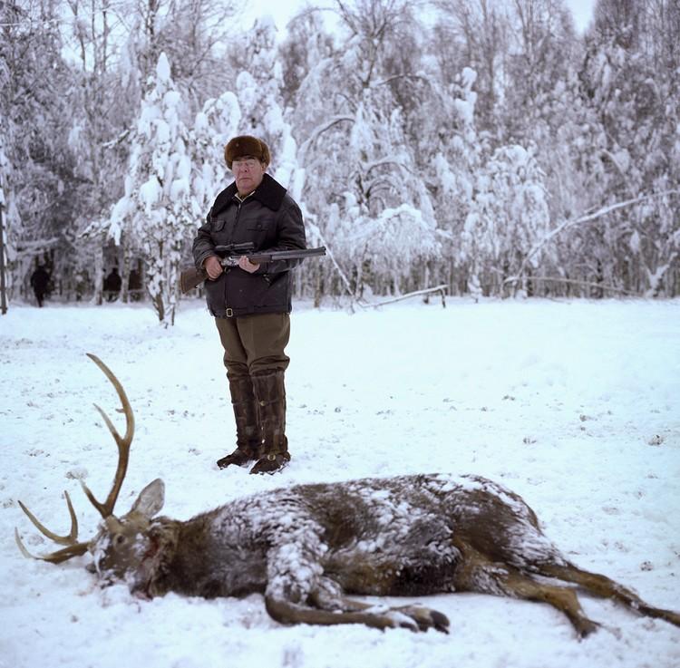 Генсек на охоте, зима 1981 года. Фото: Владимир Мусаэльян/ТАСС