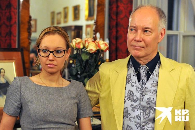София Конкина с отцом, актером Владимиром Конкиным.