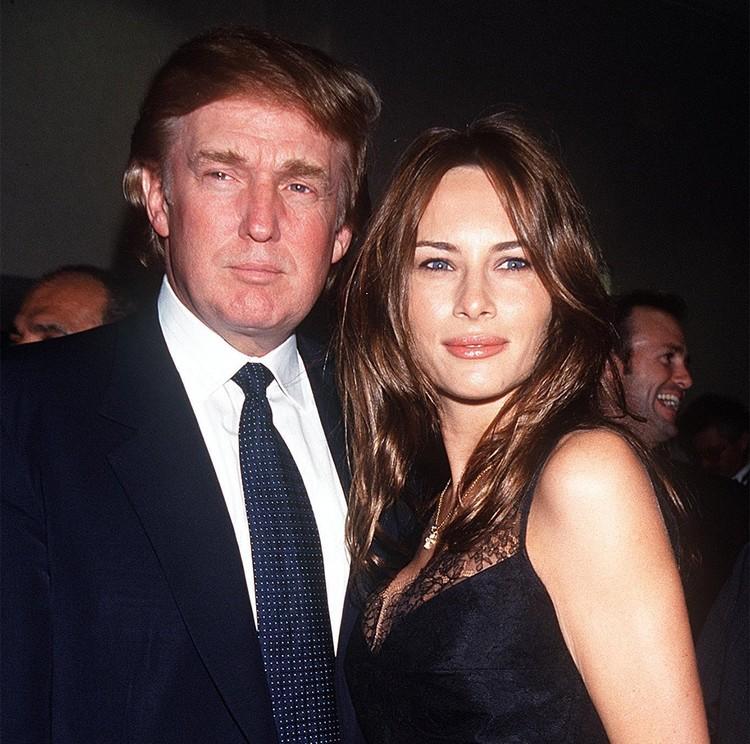 Дональд Трамп и Мелания в 1999 г.