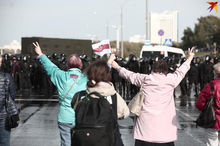 Акция протеста на Машерова.