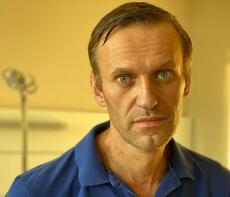 Политик Алексей Навальный в берлинской клинике Шарите, сентябрь 2020 г.