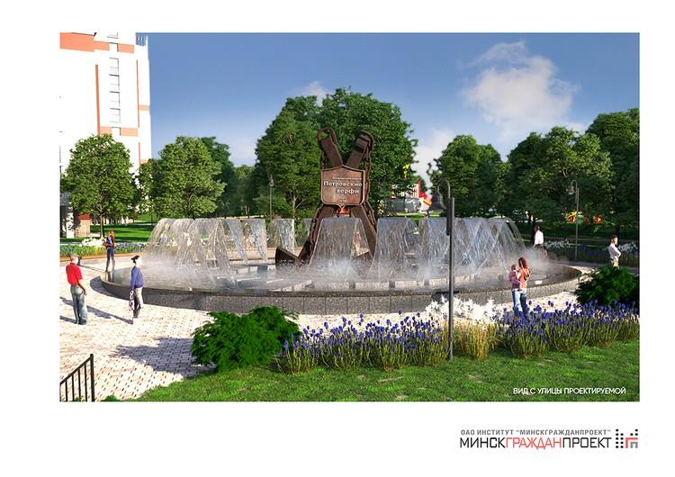 На территории комплекса появится фонтан.