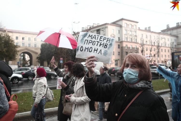 Марш матерей продолжался больше часа.