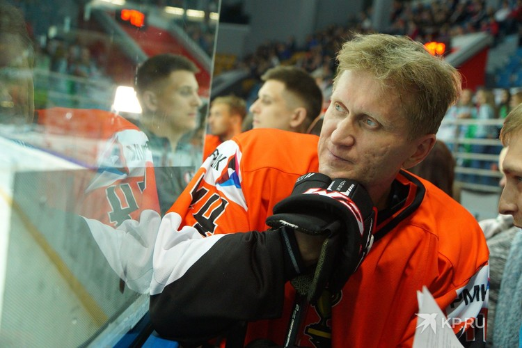 Андрей Рожков на хоккейном «Матче всех звезд» в 2017-м.