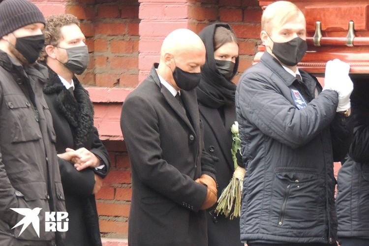 Федор Бондарчук с женой Паулиной Андреевой и два внука Ирины Скобцевой – Сергей и Константин.