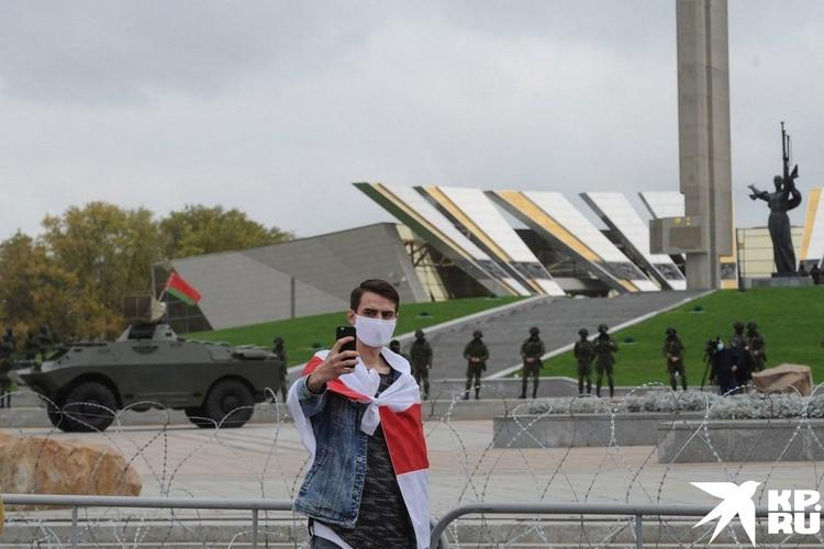 Один из протестующих. Фото: Виктор ПЕТРОВ