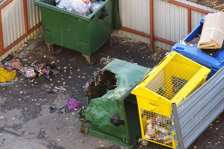 В Липецке на ЛТЗ злодеи подожгли контейнер