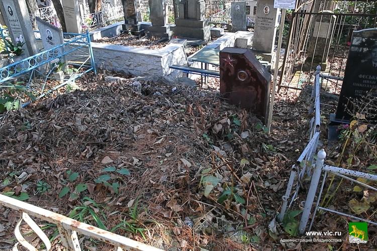 Такие могилы могут быть через 2 года признаны бесхозными