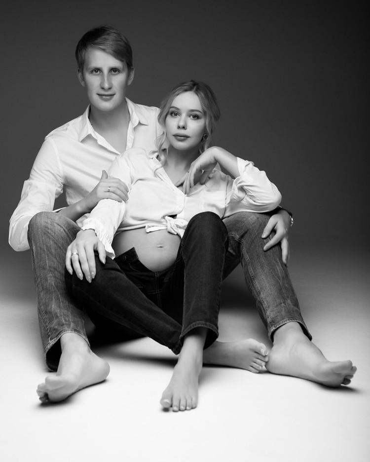 Анна Погорилая и ее муж.