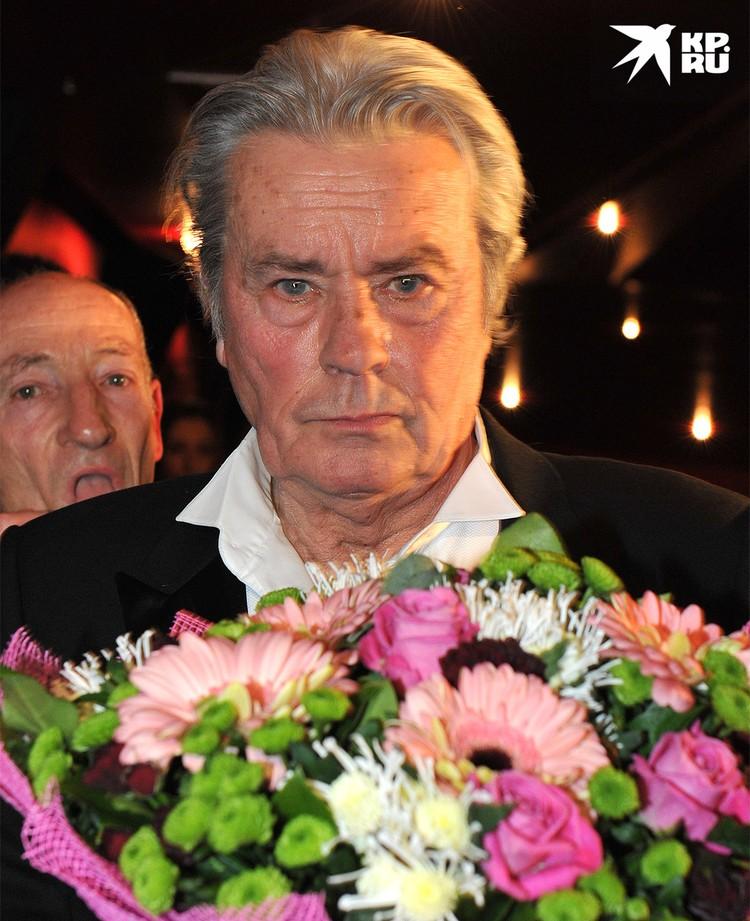 Ален Делон в Москве, 2012 г.