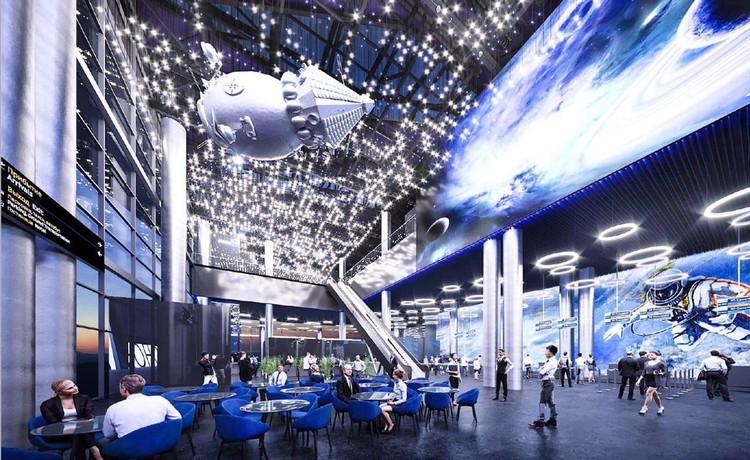 Проект внутреннего дизайна выполнен в космическом стиле. Фото: пресс-служба АПК