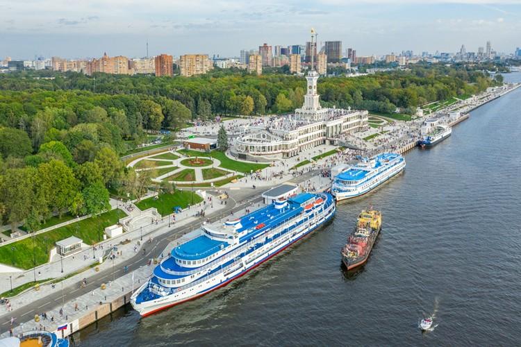 Полностью завершена реконструкция и благоустройство Северного речного вокзала. Фото - пресс-служба Комплекса городского хозяйства Москвы