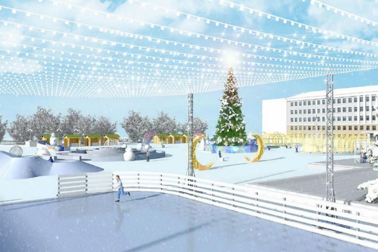 Каток будет украшен светящимися декорациями «Звездное небо». Фото: zakupki.gov.ru