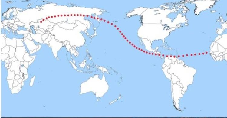 Места наиболее вероятного падения Апофиса. Под ударом наша Сибирь. Как в прошлый раз, когда туда упал Тунгусский метеорит.
